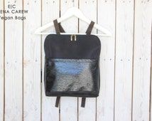 Small backpack purse, Minimal Backpack, Black leather backpack purse, Top selling shops