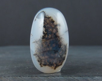 Beautiful dendritic agate cabochon B5783