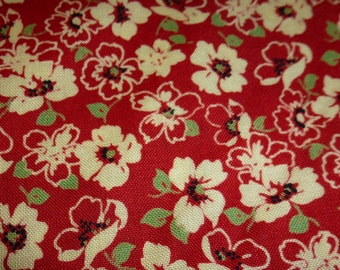 "One Yard and 20 "" of Quilt Cotton Floral Fabric"
