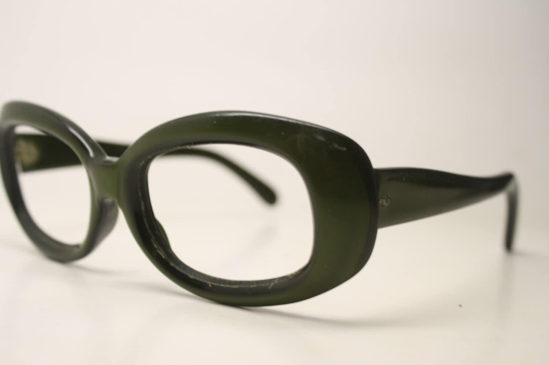 Eyeglass Frames Unique : Green Vintage Eyeglasses Unique vintage Eyewear Retro Glasses