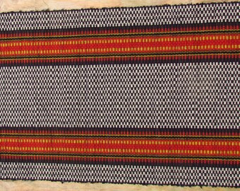 "Rag Rug Farm House Stripe 28"" x51"" A 200+ year old Recycling Tradition"
