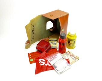 Vintage Auto Emergency Kit Accessory, Travel Kit, Roadside Emergency Kit, Dynamic Classics, Auto Restoration, Classic Car, Epsteam