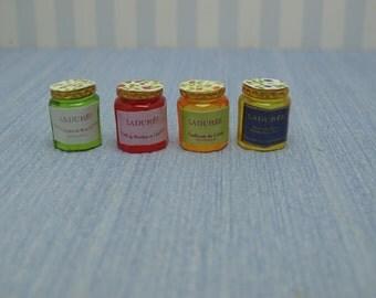 Gaël   dollhouse  Miniature bottle jam  Scale 1:12 kitchen handmade