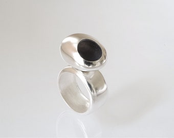 Big Bubble Ring in sterling silver