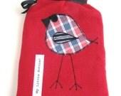 Red Fleece Hot Water Bottle Cover