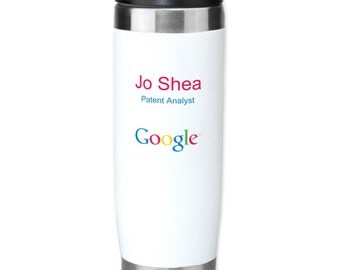 Custom Personalized Travel Tumbler with Screw-On Lid