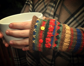 Refill Yarn Pack for Primary Color Fingerless Gloves Kit by Little Woolly Things
