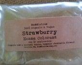 Vegan-ORGANIC STRAWBERRY HENNA Hair Colorant Powder-One (1) Application-Approx. 2.2 oz.