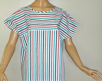 Striped Candy Cane Vintage Short Sleeve Shirt