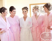 Bridesmaid Robes Set of 9 Monogrammed Wedding Day Robes in 10 Colors