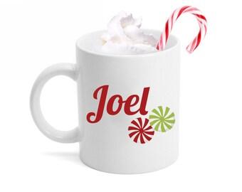 Customized Christmas Candy Ceramic Mug