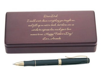 Engraved Letter To Dad Pen Set