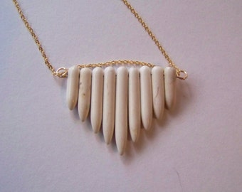 White Turquoise Cascade Necklace