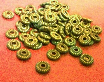 50pc 5mm antique bronze metal round spacer/bead-3806B