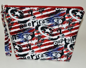 Captain America Red White and Blue project bag