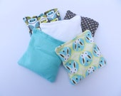 Washable Bean Bag Set of FIVE with Carry Bag - Organic Cotton