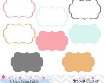 INSTANT DOWNLOAD, Aqua and Pink Labels for personal and commercial use