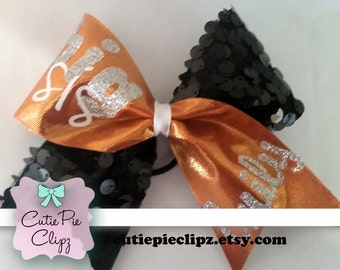 Orange and Black Big Sis and Lil Sis Cheer Bows