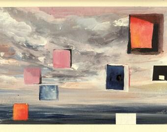Abstract Ocean #5- Windows - Original Acrylic Painting
