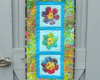 Spring Summer Wall Hanging Table Runner Flowers Floral Door Decoration Table Topper