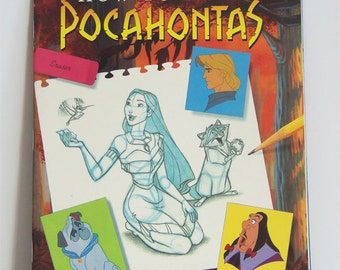 Vintage How to Draw Pocahontas Book - How to Draw Pocahontas Book - How to Draw Disney Book - Pocahontas Book - Pocahontas - Disney Book