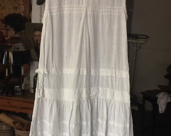 Vintage White Cotton Day Dress