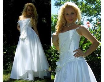 Fairy Cindarella Alternative Wedding Gown - Andromeda in White.