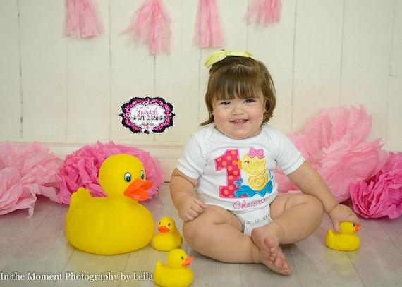 My First Birthday Rubber Duck Birthday Girl First Birthday