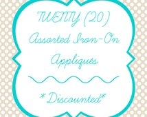 Baby Iron-Ons, Set of 20 Iron-On Appliqués for Baby Shower Craft, Onesie Station