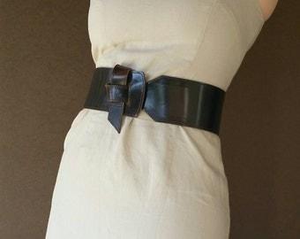 Brown leather belt -  wide wrap belt - tie belts - fashion belts - wide belt - unique & trendy belt