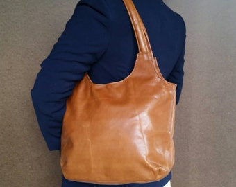 Women's  Leather Tote Purse with Tassel - Unique Handcrafted Shoulder Bag - Tote Bag - Everyday Tan Handbag bony2