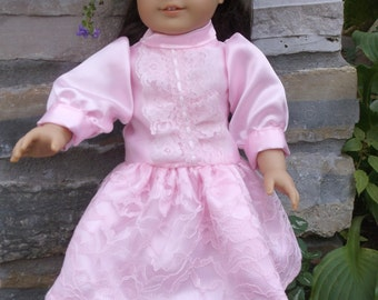 18 Inch pink historic Doll drop waist party dress by Project Funway on Etsy.
