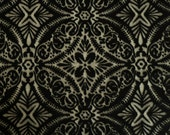 Mosiac Tile Design Flocked Black Stretch Lace Mesh Fabric 150cm wide - sold by the metre - UK SELLER