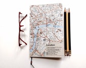 European City Map, Journal, Mini Notebook, Travel Notebook, Sketchbook, London Paris Rome Brussels Madrid