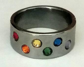 Titanium ring band mens wedding ring hypoallergenic
