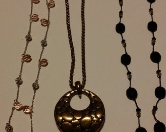 ON SALE Three pretty necklaces of different styles