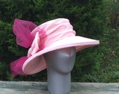 Hat Derby Hat Pink Sun Hat Womens Hats
