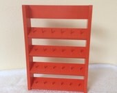 Spool Holder-Sewing accessory-Sewing Storage solution - Bright Orange- Holds 24 spools of thread