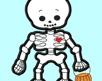 Baby Skeleton APPLIQUE Embroidery Designs 4 sizes INSTANT Download
