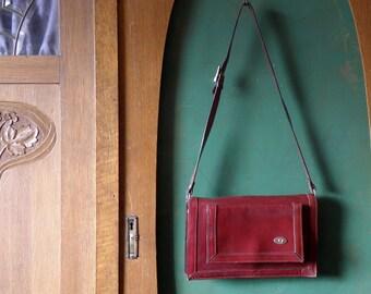 Debonair burgundy bag