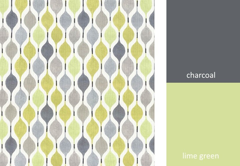 Grey Geometric Jacquard Weave Fabric By The Yard Curtain Fabric ...