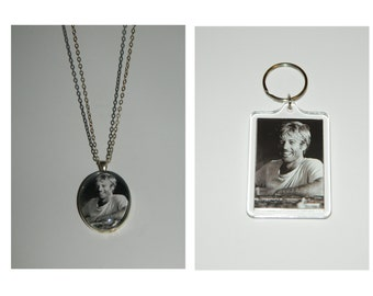 Robert Redford Glass Pendant Necklace and/ or Keychain