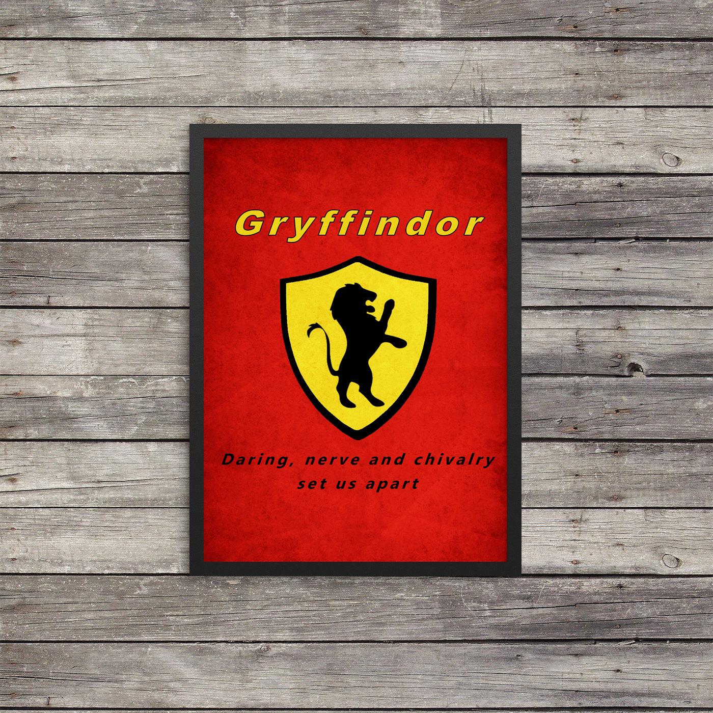 Gryffindor Poster Minimalist Poster Harry Potter Poster