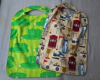 Golf LARGE CLOTHES PROTECTORS (Reversible Bibs) with Velcro fastener