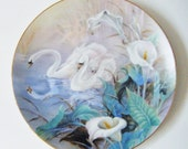 "Vintage ""The Swans"" Plate By Artist LENA LIU From The Wings Of Snow Collection Bradex BRADFORD Exchange"