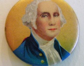 Rare Antique George Washington Political Pin Button Memorabilia