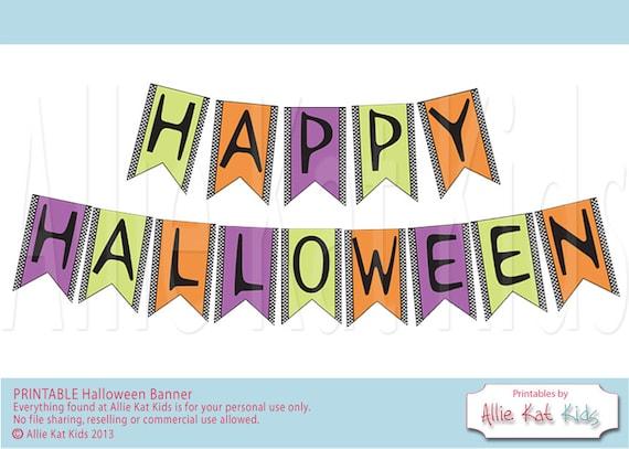 HAPPY HALLOWEEN - Printable Banner DIY Happy Halloween Purple ...