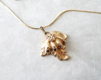Gold Leaf Vintage Necklace