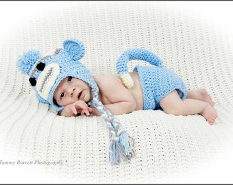 Monkey hat and diaper cover