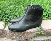 MAKE OFFER - Black Leather Liz Claiborne Flat Ankle Booties